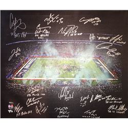 2017 Philadelphia Eagles LE 20x24 Canvas Photo Display Team-Signed by (20) with Nick Foles, Fletcher