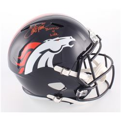 "Terrell Davis Signed Broncos Full-Size Speed Helmet Inscribed ""Bronco 4 Life"" (Davis Hologram)"