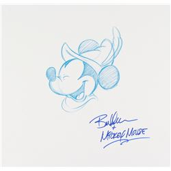 "Bret Iwan Signed Original 12x11.5 ""Brave Little Tailor"" Mickey Mouse Sketch"