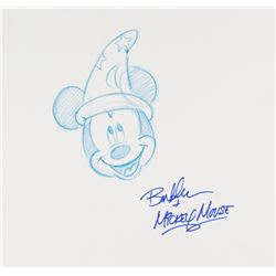 Bret Iwan Signed Original 12x11.5 Sorcerer Mickey Mouse Sketch