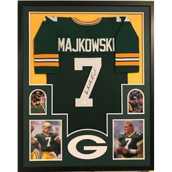 Don Majkowski Signed Packers 34x42 Custom Framed Jersey Display (JSA COA)