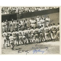 1941 Yankees World Championsjips 8x10 Photo Signed By (5) With Lefty Gomez, Bill Dickey, Joe McCarth