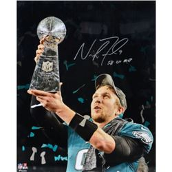 Nick Foles Signed Eagles 16x20 Photo Inscribed  SB LII MVP  (Fanatics Hologram)