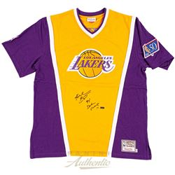 "Kobe Bryant Signed Lakers Shooting Shirt Inscribed ""97 Dunk Champ"" (Panini)"