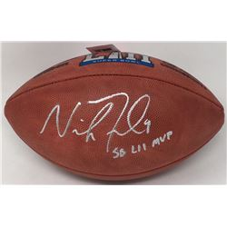 "Nick Foles Signed Super Bowl LII Official NFL Game Ball Inscribed ""SB LII MVP"" (Fanatics)"