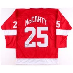 "Darren McCarty Signed Red Wings Jersey Inscribed ""127 Goals""  ""129 Fights"" (JSA COA)"