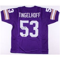 "Mick Tingelhoff Signed Vikings Jersey Inscribed ""HOF 2015"" (Jersey Source COA)"