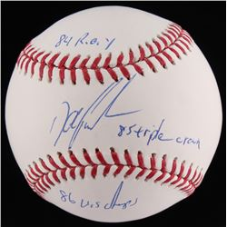 Dwight Gooden Signed OML Baseball With Extensive Inscriptions (JSA COA)