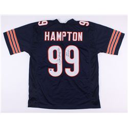 "Dan Hampton Signed Bears Jersey Inscribed ""HOF 2002"" (Schwarz COA)"