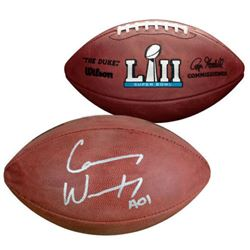 "Carson Wentz Signed ""The Duke"" Super Bowl LII Official NFL Game Ball Inscribed ""AO1"" (Fanatics)"