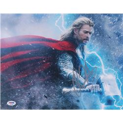 Chris Hemsworth Signed Thor 11x14 Photo (PSA COA)