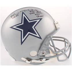 """Michael """"Playmaker"""" Irvin Signed Cowboys Full-Size Authentic On-Field Helmet Inscribed """"HOF 07""""  """"Su"""