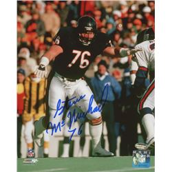 Steve McMichael Signed Bears 8x10 Photo (Schwartz COA)