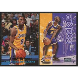 Lot of (2) Kobe Bryant Rookie Basketball Cards with 1996-97 Fleer #203 Kobe Bryant RC  1996-97 Stadi