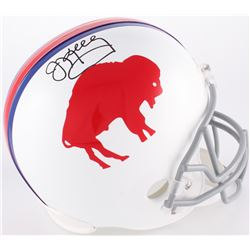 Jim Kelly Signed Bills Throwback Full-Size Helmet (JSA COA)