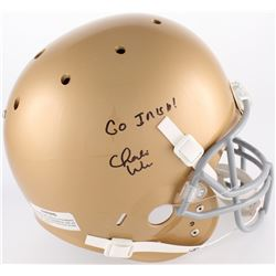 "Charlie Weis Signed Notre Dame Fighting Irish Full-Size Helmet Inscribed ""Go Irish!"" (JSA COA)"