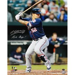 "Byung-ho Park Signed Twins 16x20 Photo Inscribed ""Park Bang!"" (Schwartz COA)"