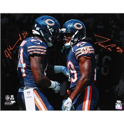 Jordan Howard  Tarik Cohen Signed Bears 16x20 Photo (Schwartz COA)