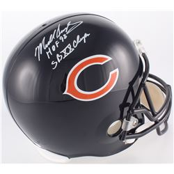 "Mike Singletary Signed Bears Full-Size Helmet Inscribed ""HOF 98""  ""SB XX Champs"" (JSA COA)"