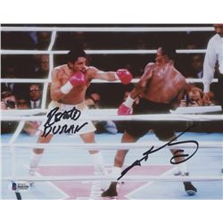 Sugar Ray Leonard  Roberto Duran Signed 8x10 Photo (Beckett COA)