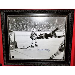 "Bobby Orr Signed Bruins ""The Goal"" 20x24 Custom Framed Photo Display (Orr COA)"