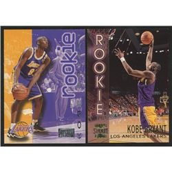 Lot of (2) Kobe Bryant Basketball Cards with 1996-97 SkyBox Premium #203  1996-97 Stadium Club Rooki