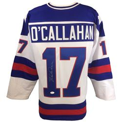 "Jack O'Callahan Signed 1980 Team USA ""Miracle on Ice"" Jersey (JSA COA)"