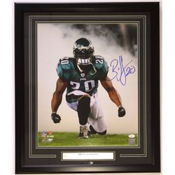 Brian Dawkins Signed Eagles 22x27 Custom Framed Photo Display (JSA COA)