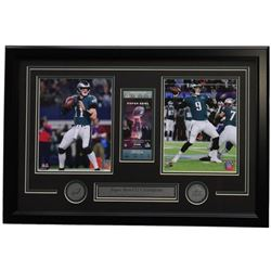 Carson Wentz  Nick Foles Eagles 18x28 Custom Framed Photo Display