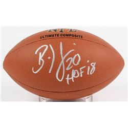 "Brian Dawkins Signed NFL Football Inscribed ""HOF 18"" (Beckett COA)"