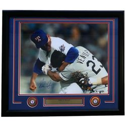 Nolan Ryan Signed 49ers 22x27 Custom Framed Photo Display (Beckett COA)