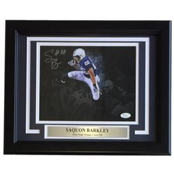 Saquon Barkley Signed Penn State Nittany Lions 11x14 Custom Framed Photo Display (JSA COA)