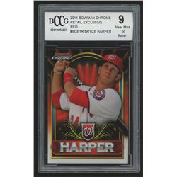 2011 Bowman Chrome Bryce Harper Retail Exclusive #BCE1R Bryce Harper Red (BCCG 9)