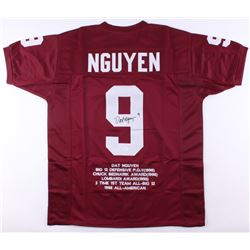 Dat Nguyen Signed Texas AM Aggies Career Highlight Stat Jersey (JSA COA)