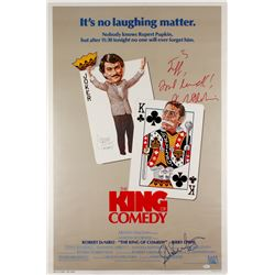 "Robert DeNiro, Jerry Lewis  Sandra Bernhard Signed ""The King of Comedy"" 27x43 Movie Poster With Insc"