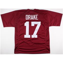 "Kenyan Drake Signed Alabama Crimson Tide Jersey Inscribed ""2x National Champs"" (Schwartz COA)"