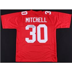 "Stump Mitchell Signed Cardinals Jersey Inscribed ""St. Louis  Phoenix Cardinals '81-89'"" (Beckett COA"