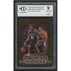 1997-98 Stadium Club Hardwood Hopefuls #HH4 Tim Duncan (BCCG 9)