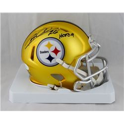 "Rod Woodson Signed Steelers Blaze Speed Mini Helmet Inscribed ""HOF 09"" (JSA COA)"