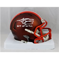 "Johnny Manziel Signed Browns Blaze Speed Mini Helmet Inscribed ""2014 1st Rd. Pick"" (JSA COA)"