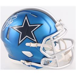 Emmitt Smith Signed Cowboys Mini Blaze Speed Helmet (Schwartz COA  Prova Hologram)