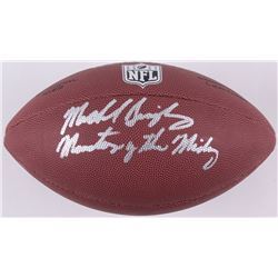 """Mike Singletary Signed Football Inscribed """"Monsters of the Midway"""" (Schwartz COA)"""