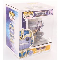 """Stan Lee Signed """"Guardians of the Galaxy"""" Thanos Funko Pop Figure (Lee Hologram)"""