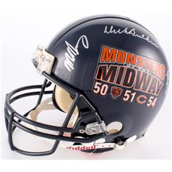 """Monsters of the Midway"" Bears Full-Size Authentic On-Field Helmet Signed by (3) with Mike Singletar"