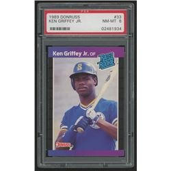 1989 Donruss #33 Ken Griffey Jr. RR RC (PSA 8)