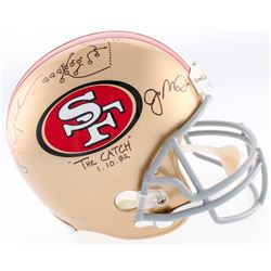 Joe Montana  Dwight Clark Signed 49ers Full-Size Helmet Inscribed  The Catch    1-10-82  with Hand-D