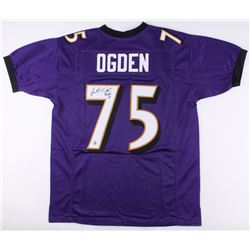 "Jonathan Ogden Signed Ravens Jersey Inscribed ""HOF 13"" (Jersey Source COA)"