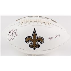 "Marshon Lattimore Signed Saints Logo Football Inscribed ""2017 DROY"" (Radtke COA  Lattimore Hologram)"