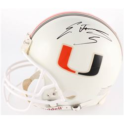Edgerrin James Signed Miami Hurricanes Full-Size Authentic On-Field Helmet (Schwartz COA)