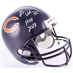 "Brian Urlacher Signed Bears Full-Size Helmet With Inscribed ""HOF 2018"" (JSA COA)"